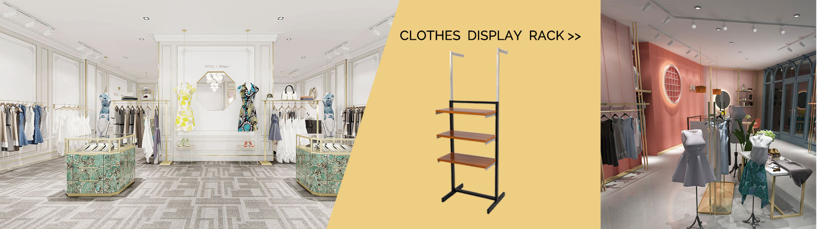 Clothing display rack professional supplier