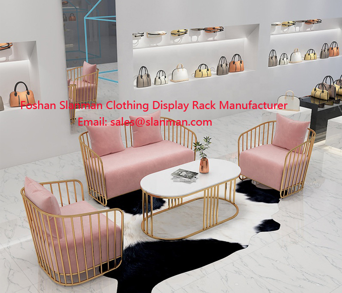 Fashion Single Fabric Sofa Chair Modern Living Room Sofa Chair Metal Sofa Table